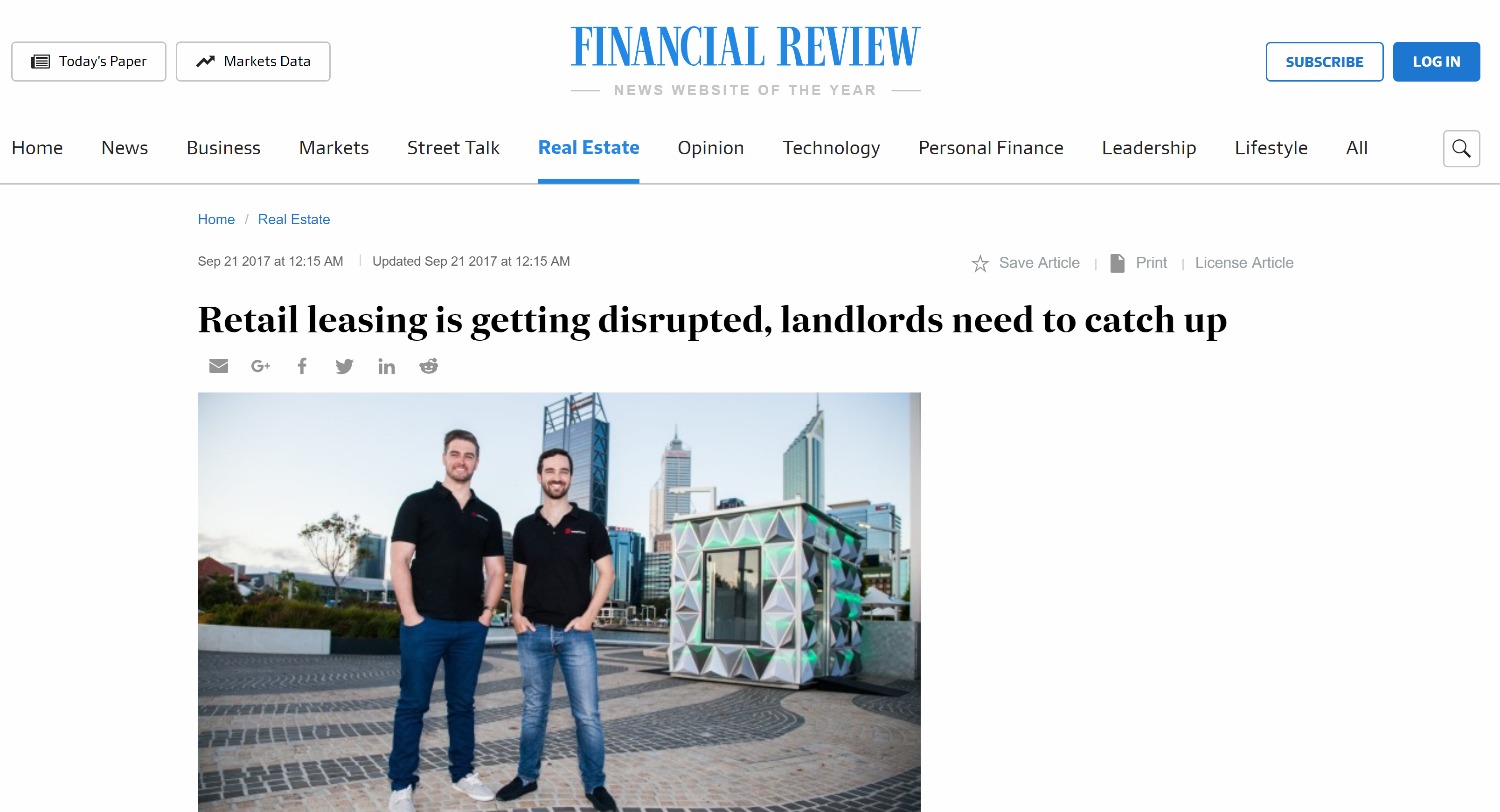 Australian Financial Review - Popupshopup